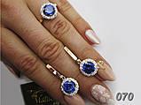 """Женское серебряное кольцо с золотыми пластинами """"Лунный свет"""", фото 6"""
