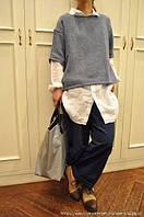 Льняные плотные женские брюки для осени весны шалунишки, чинос, шаровары, стильные casual . Цвет на выбор , фото 1