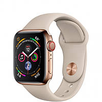 Apple Watch Series 4 GPS + Cellular 40mm Gold Stainless Steel Case with Stone Sport Band (MTUR2)