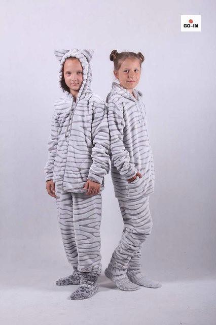 Детский махровый костюм с ушками домашний р. 36-42
