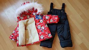 Зимний костюм-двойка для девочки