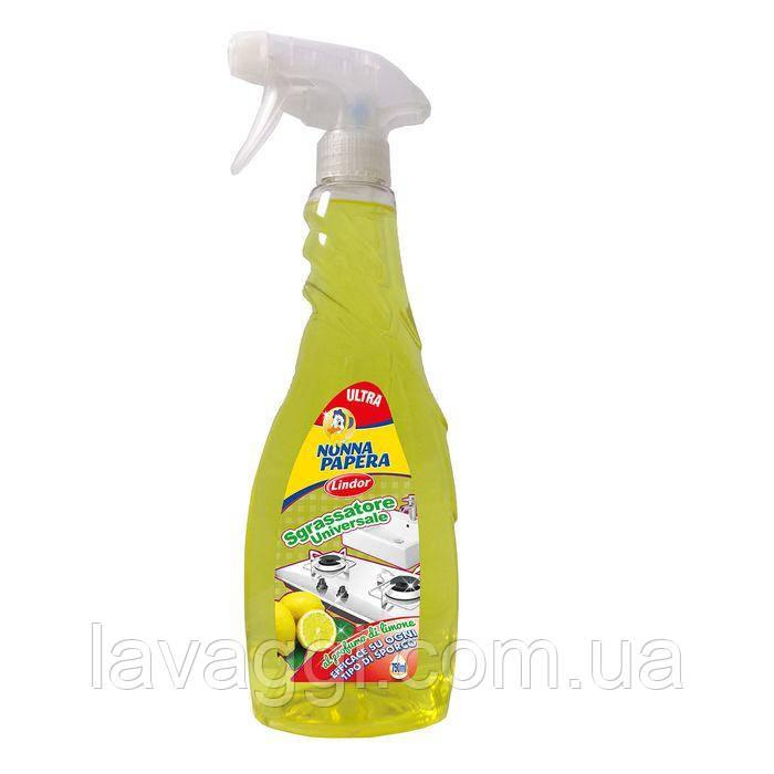 Универсальный обезжириватель  с ароматом лимона Lindor Nonna Papera Sgrassatore Universale Limone 750 ml