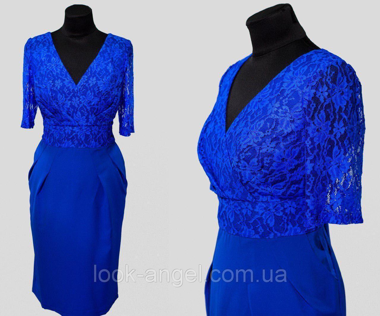 """Элегантное женское платье с ткань """"Костюмная ткань"""" 48 размер батал"""