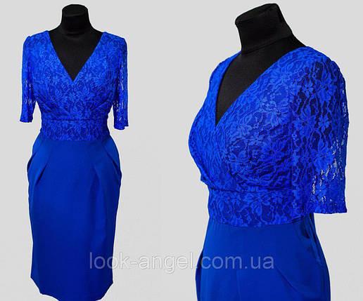 """Элегантное женское платье с ткань """"Костюмная ткань"""" 48 размер батал, фото 2"""