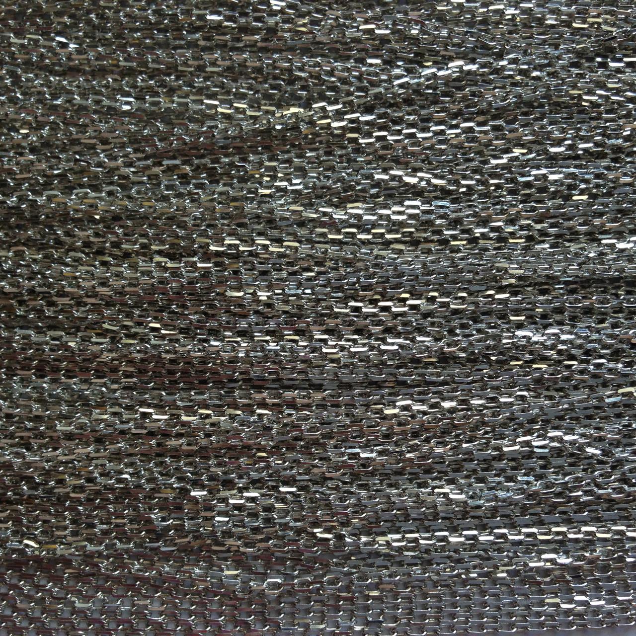 Серебряная цепочка ЯКОРЬ - метраж оптом
