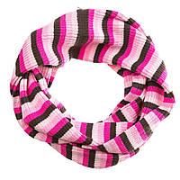 Шарф-хомут Lenne 264 в розово-коричневую полоску 16344 AE ТМ: LENNE