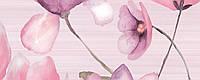 20x50 Керамическая плитка Декор FLORA стена розовая , фото 1