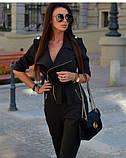 Комбинезон женский стильный штаны зауженные костюмка размеры:42,44,46,48, фото 5