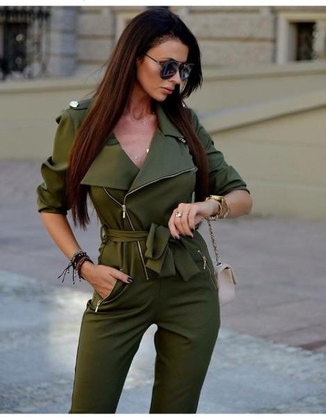 Комбинезон женский стильный штаны зауженные костюмка размеры:42,44,46,48
