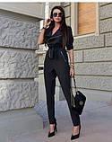 Комбинезон женский стильный штаны зауженные костюмка размеры:42,44,46,48, фото 2