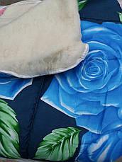 Теплое двухсторонее шерстяное одеяло полуторное , фото 2