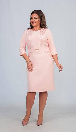 """Элегантное женское платье с ткань """"Костюмная ткань"""" 50 размер батал, фото 2"""