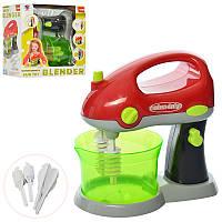 Детская игровая кухонная бытовая техника Миксер (блендер) 18 см, свет, вращается, XS-14011
