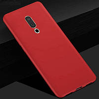 Чехол Meizu 15 5.46'' силикон soft touch бампер красный