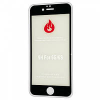 Защитное стекло 2,5+D (рамка) Blue light для iPhone 6/6 Plus - black