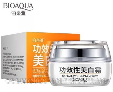 Крем для обличчя відбілюючий Bioaqua Effect Whitening Cream з журавлиною
