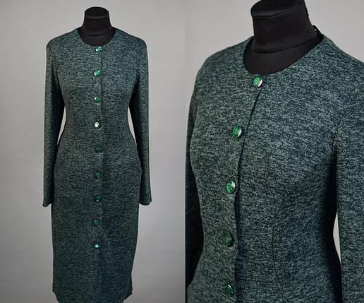 """Стильное  женское платье ткань """"Ангора"""" мягкая 50 размер батал, фото 2"""