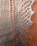 """Палантин """"""""Класична хвиля"""""""" П-00063, сірий-білий , оренбурзький шарф (палантин), фото 7"""