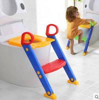 Детское сиденье на унитаз, детская накладка на унитаз со ступеньками, детский горшок