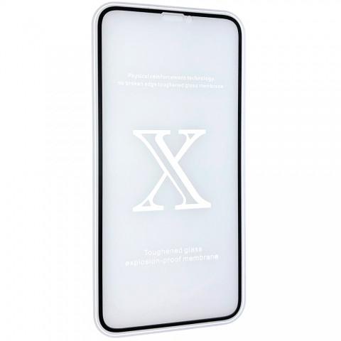 Защитное стекло 2,5+D (рамка) матовые для iPhone X - black