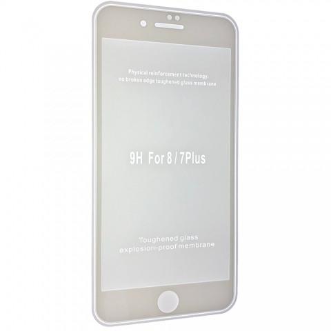 Защитное стекло 2,5+D (рамка) матовые для iPhone 8 Plus - white
