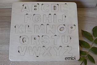 Дерев'яний англійський алфавіт, вкладиші Embi, 23017