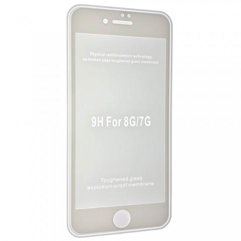 Защитное стекло 2,5+D (рамка) матовые для iPhone 8 - white