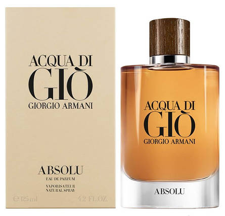 Giorgio Armani Acqa Di Gio Absolu парфюмированная вода 125 ml. (Джорджио Армани Аква Ди Джио Абсолю), фото 2