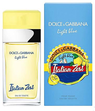 Dolce & Gabbana Light Blue Italian Zest туалетная вода 100 ml. (Дольче Габбана Лайт Блю Италия Зест), фото 2