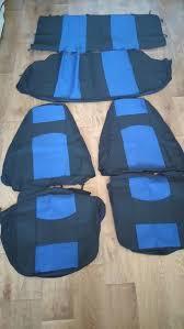 Чехлы сидений Ваз 2104,2105,2107  с синими вставками