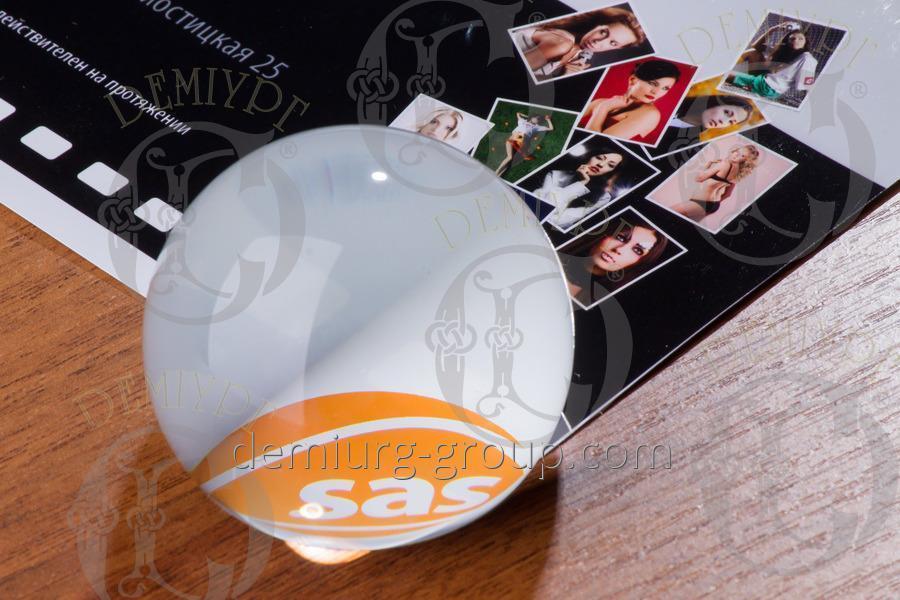 Пресс - папье стеклянный шар