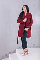 Купить кашемировое пальто марсала Д266