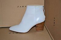 Сапоги Zara original стальные натуральная кожа-35-36р-65%, фото 1