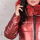 Эксклюзивное женское пальто из эко-кожи зима 2019 - (модель кт-329), фото 2