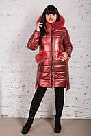 Эксклюзивное женское пальто из эко-кожи зима 2019 - (модель кт-329), фото 1
