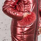 Эксклюзивное женское пальто из эко-кожи зима 2019 - (модель кт-329), фото 3