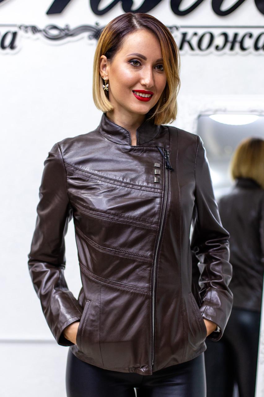 Куртка Кожаная Шоколад 041МК