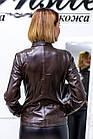 Куртка Кожаная Шоколад 041МК, фото 3