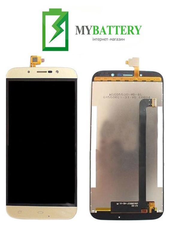 Дисплей (LCD) Bravis A553 Discovery с сенсором золотой