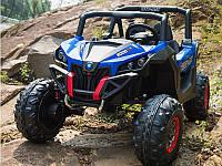Детский электромобиль Джип колеса EVA, кожаное сидение Синий