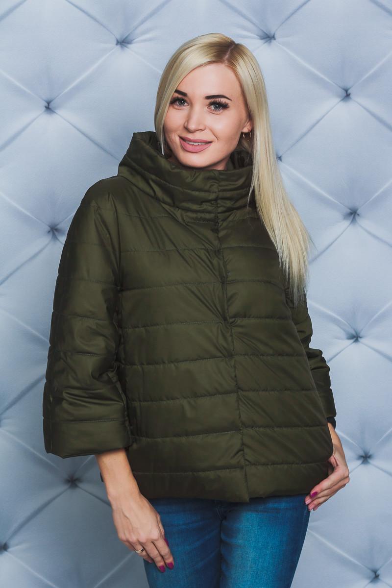 Женская куртка демисезонная хаки