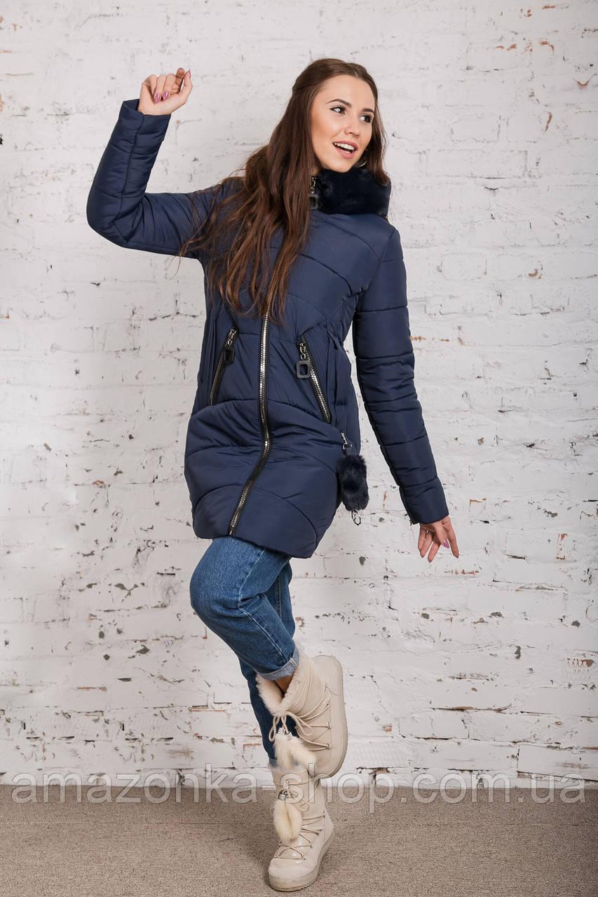 Зимняя женская куртка с экомехом - (модель кт-344)