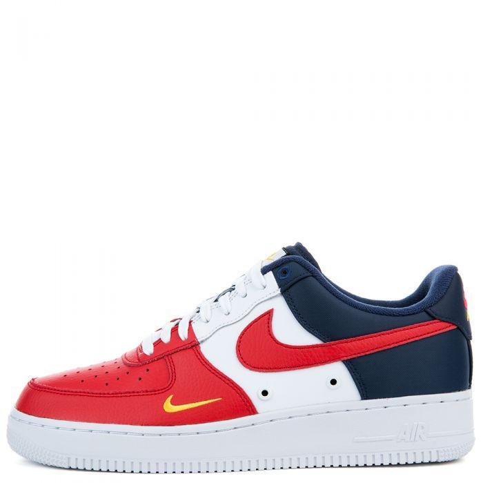 "Кроссовки Nike Air Force 1 Low Mini Swoosh ""Red/Blue/White"" (Красные/Синие/Белые)"