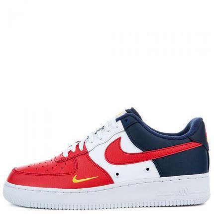 """Кроссовки Nike Air Force 1 Low Mini Swoosh """"Red/Blue/White"""" (Красные/Синие/Белые), фото 2"""