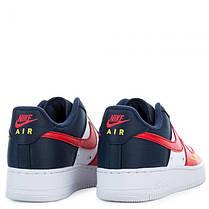 """Кроссовки Nike Air Force 1 Low Mini Swoosh """"Red/Blue/White"""" (Красные/Синие/Белые), фото 3"""