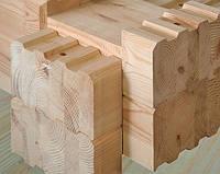 Брус сращенный, профилированный для деревянного домостроения (сосна)