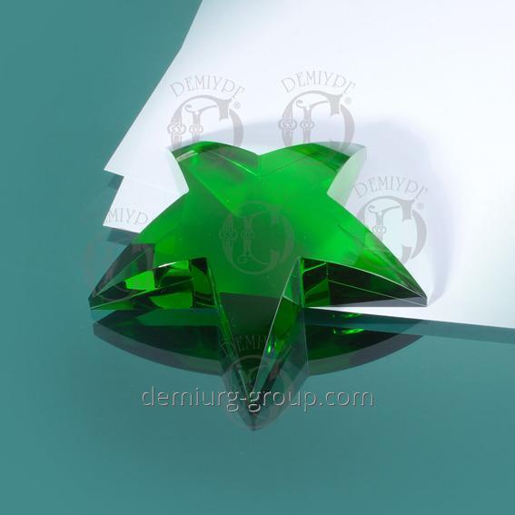 Пресс - папье звезда из цветного стекла