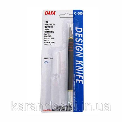 Нож макетный C-600 , пластиковая ручка, DAFA, фото 2