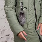Женская куртка с экомехом на зиму модель 2019 - (модель кт-354), фото 2