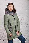 Женская куртка с экомехом на зиму модель 2019 - (модель кт-354), фото 3